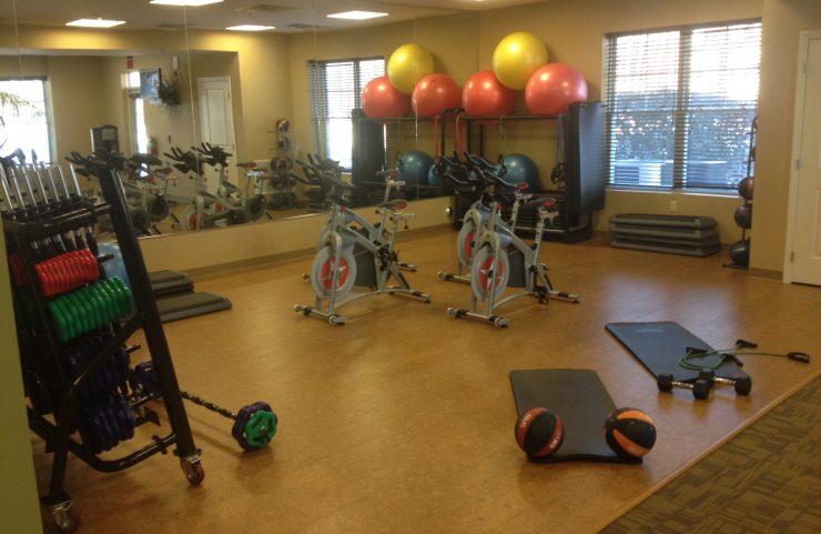work balls in gym