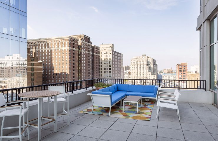 washington square apartment with outdoor living area