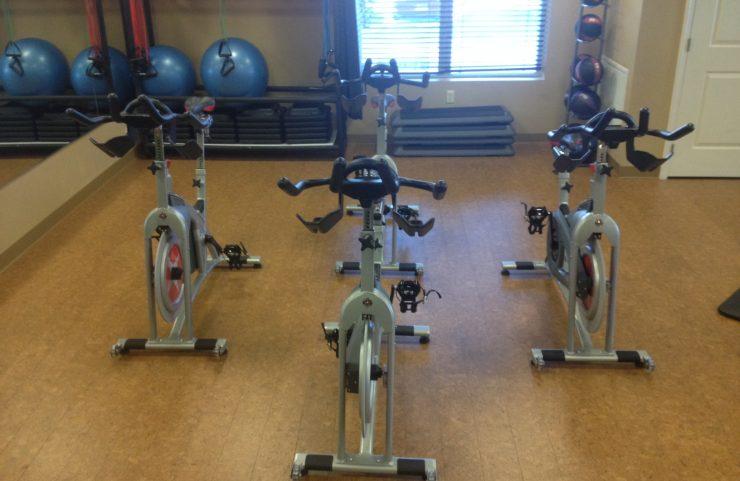 biking and spin bike machines