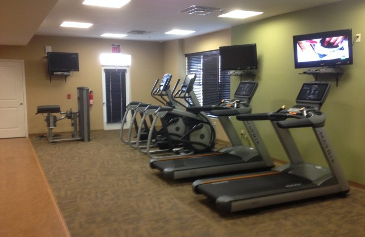 treadmills and elliptical machines