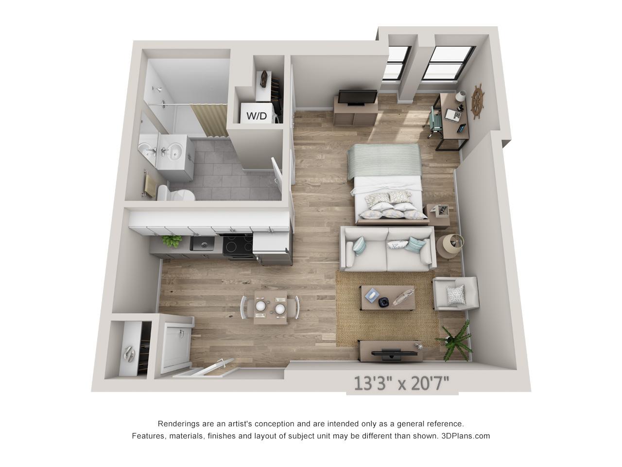 Charmant Center City Studio Apartment