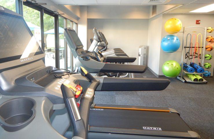 treadmills in the fitness center