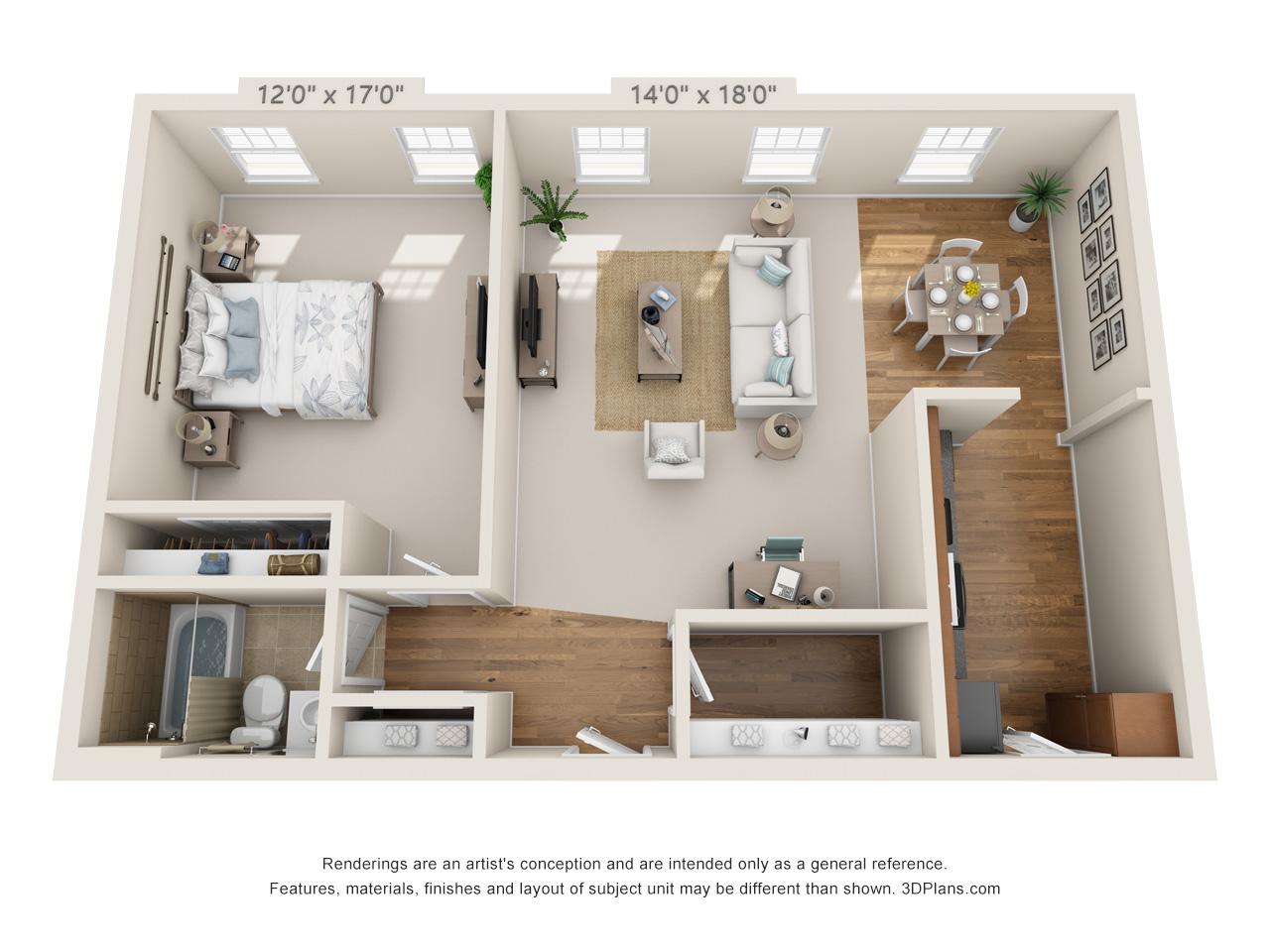 1 bedroom apartment in horsham