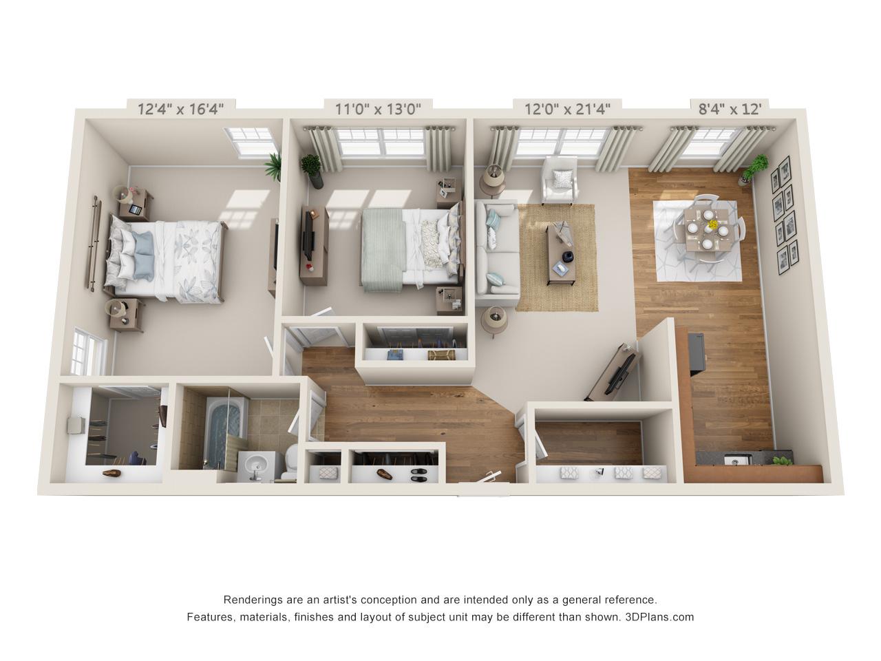 2 bedroom apartment in horsham