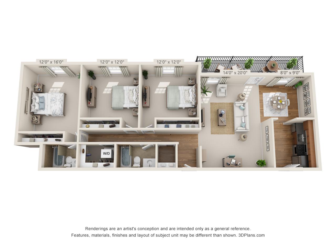 3 bedroom apartment in horsham pa