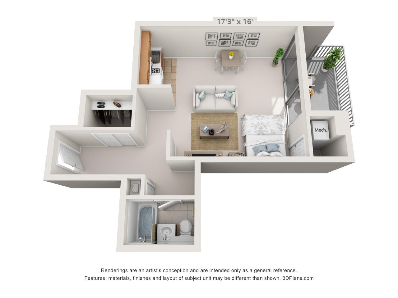 studio apartment in east falls