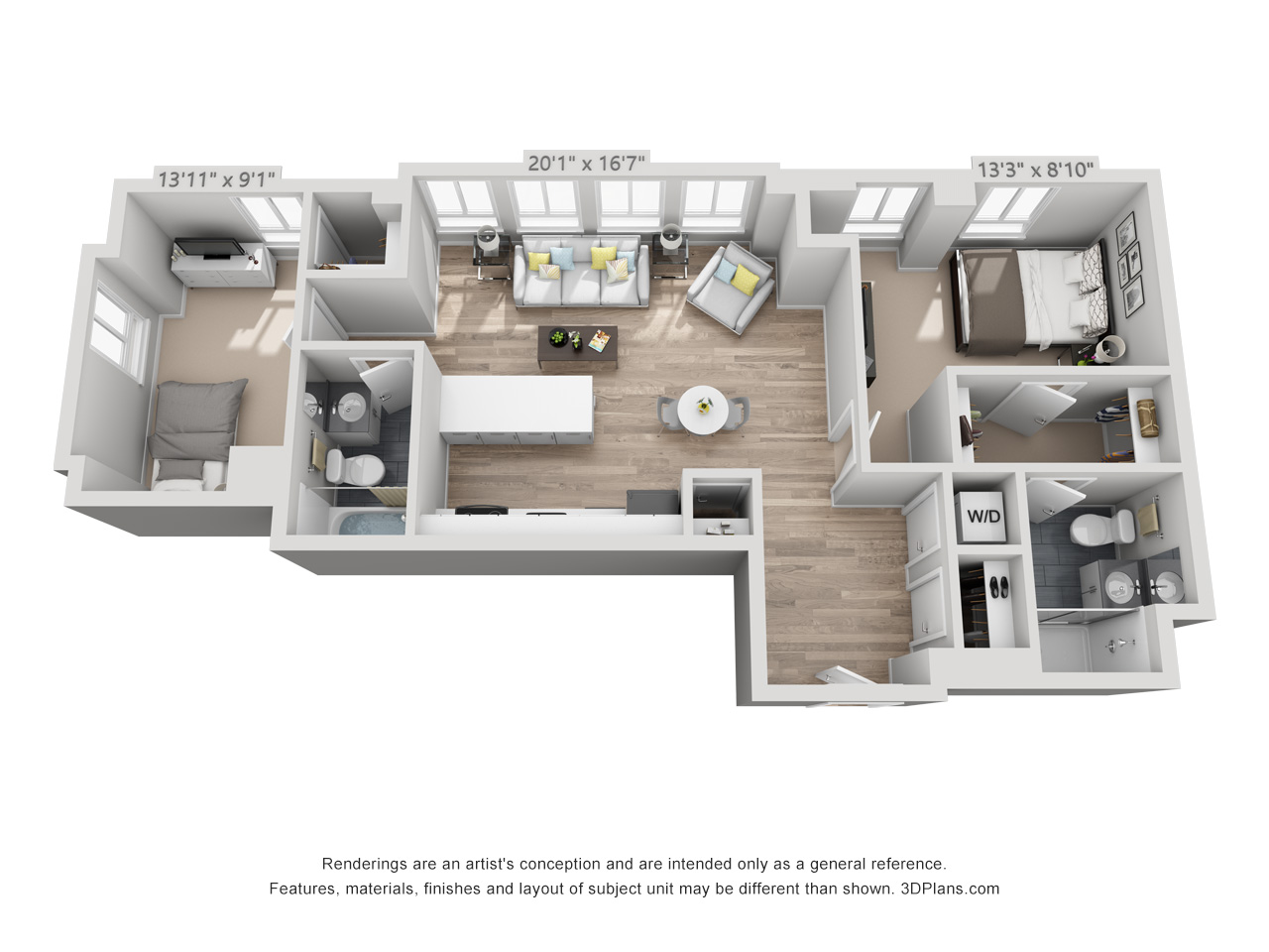 2 bedroom apartment in rittenhouse square