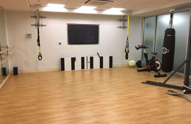 stretching gear, yoga and kickboxing