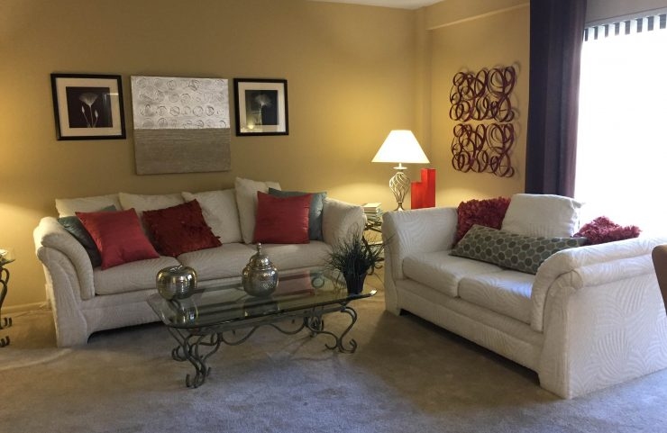 entertain in large living room