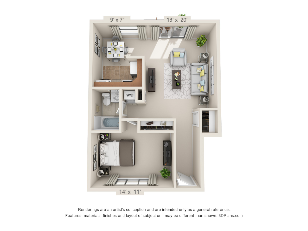 1 bedroom apartment in langhorne