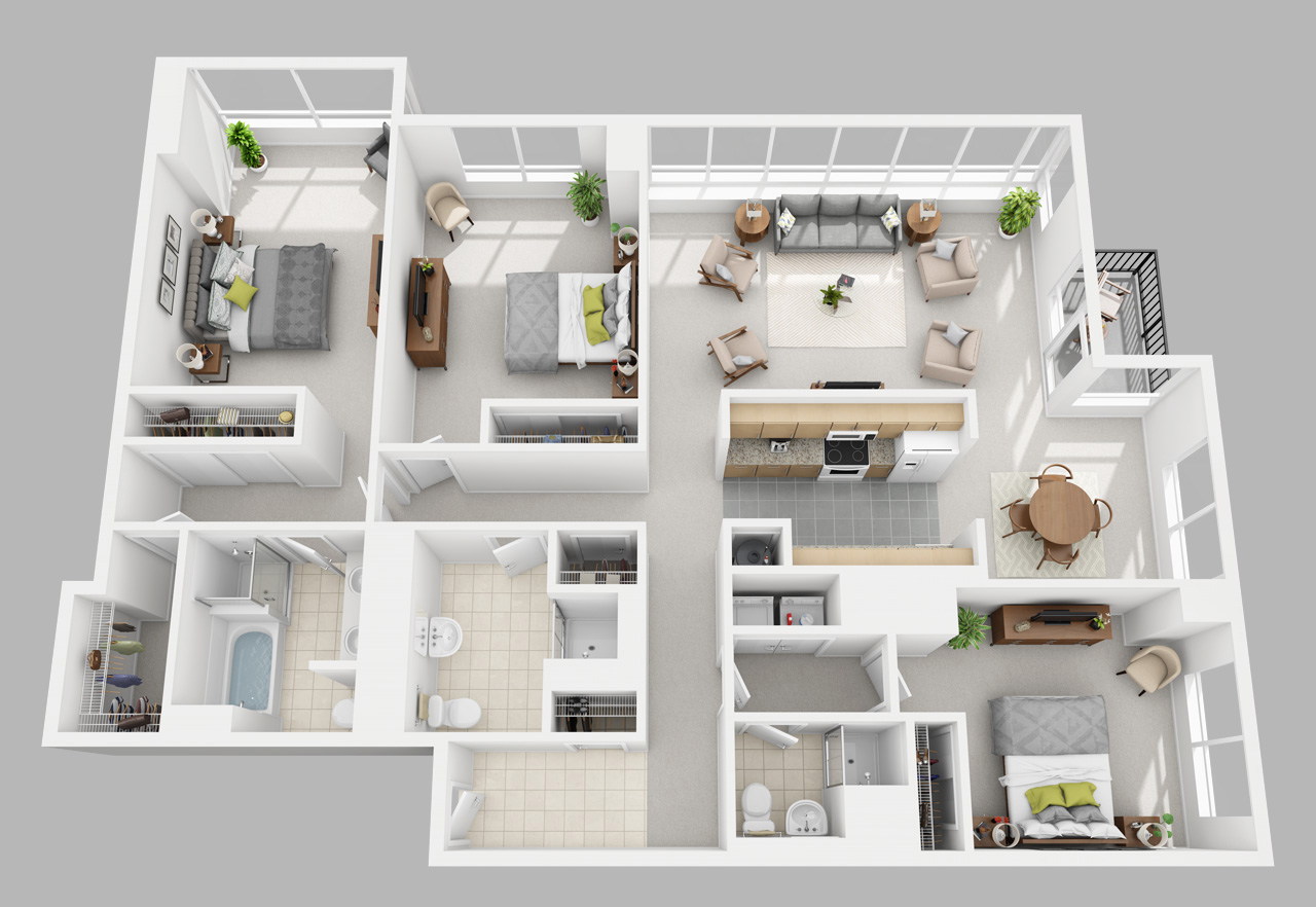 3 bedroom apartment in washington square