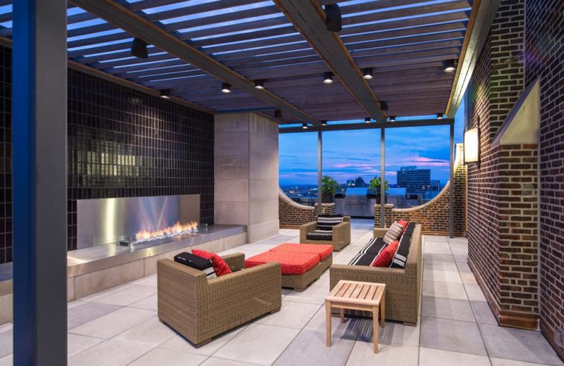 Sky Deck with 360° View, Includes Grilling Station and Outdoor Living Area with Fireplace
