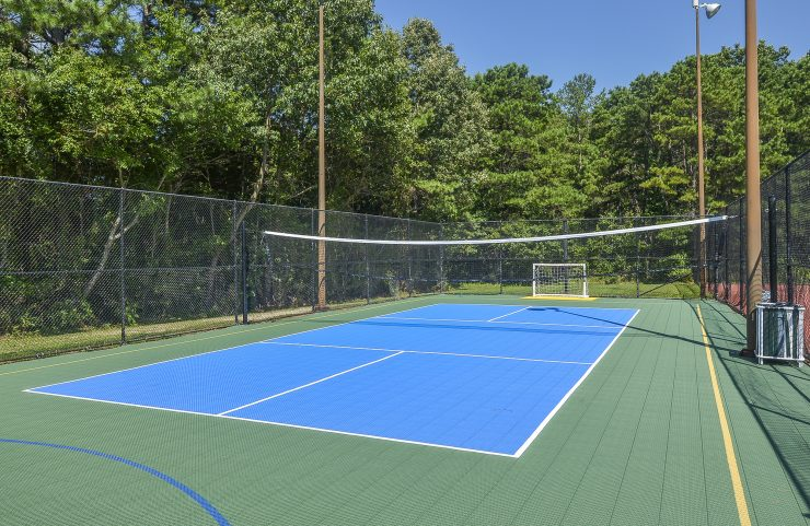 apartment in mays landing with a sports court