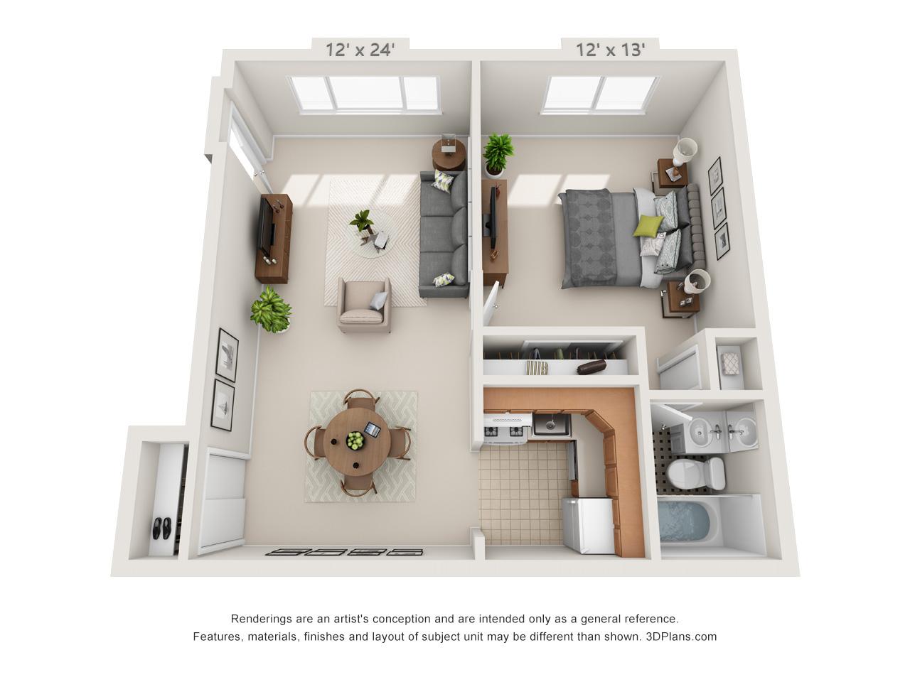 1 bedroom apartment in glenside