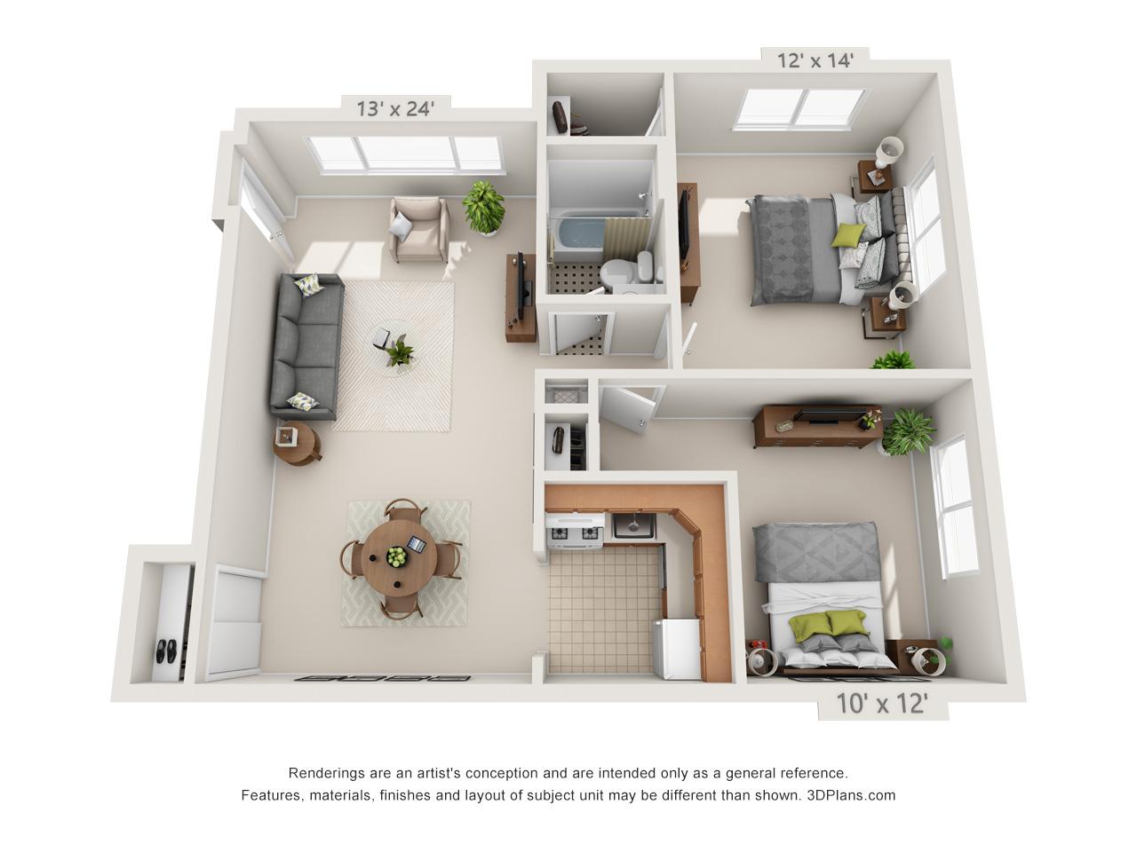 2 bedroom apartment in glenside