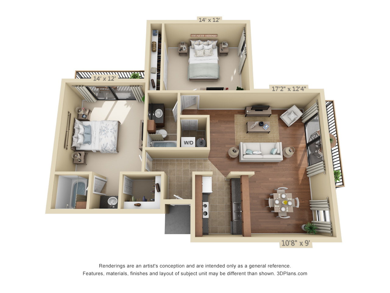 2 bedroom apartments in plantation