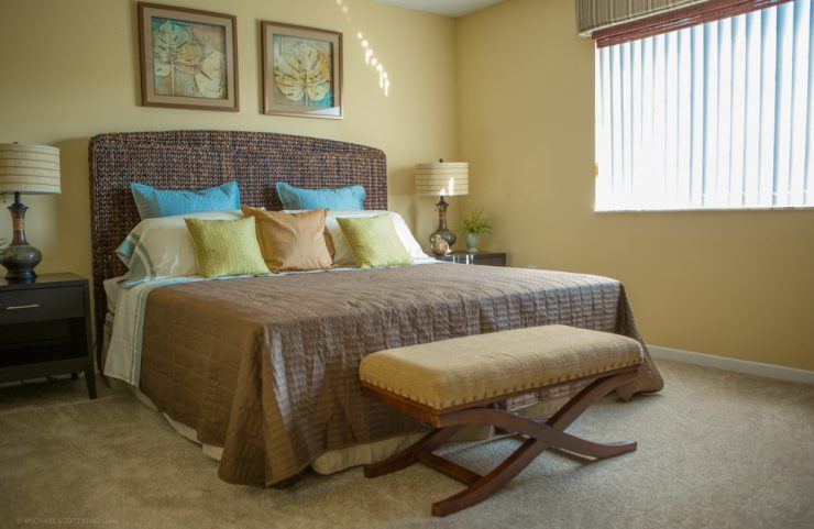 bedroom with ample natural light
