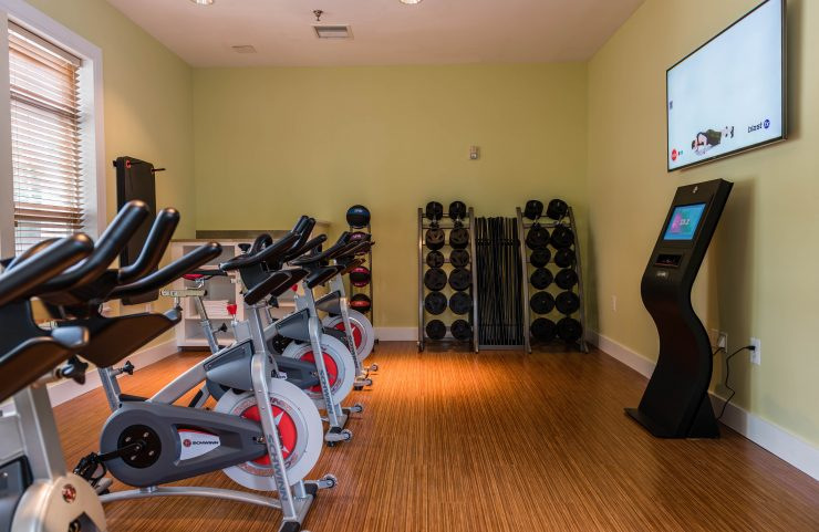 spin bikes with fitness on demand