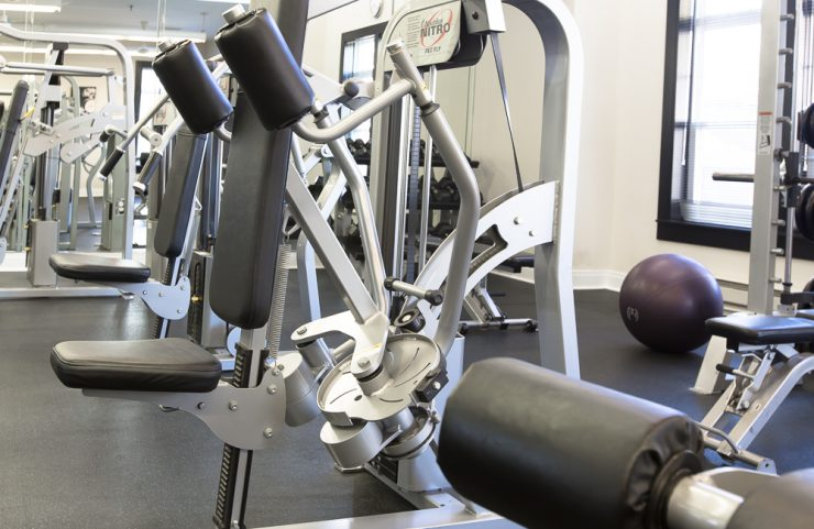 fitness center allows for many residents at once