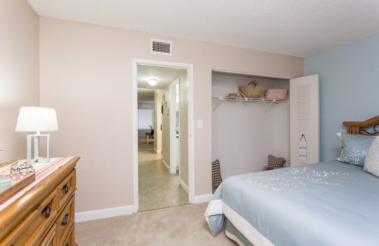 large closet space in bedroom