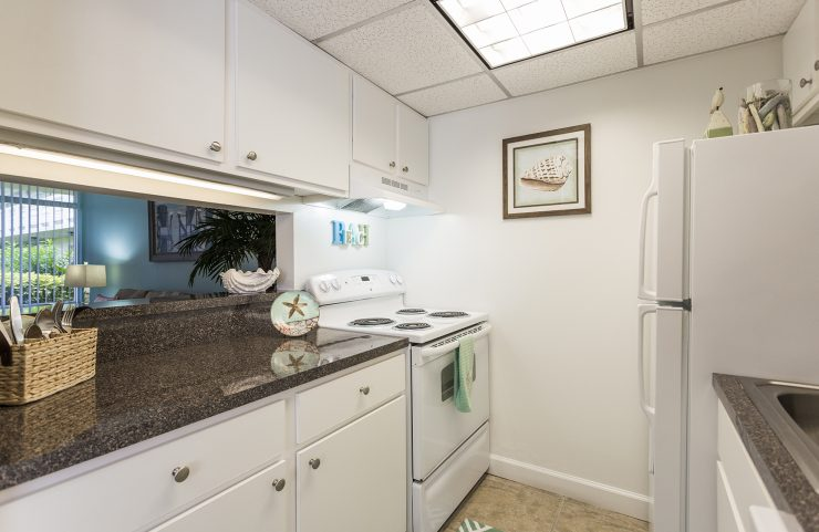 kitchen with overhead lights