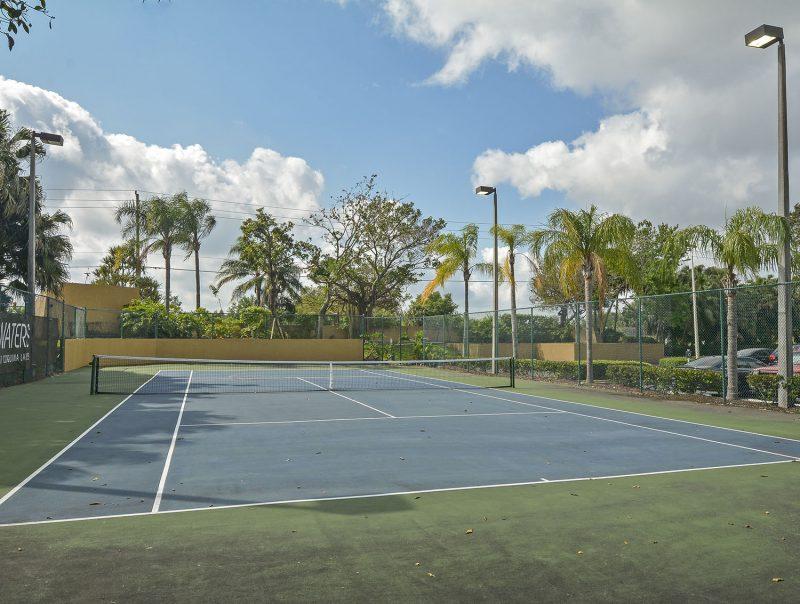 Lighted tennis court