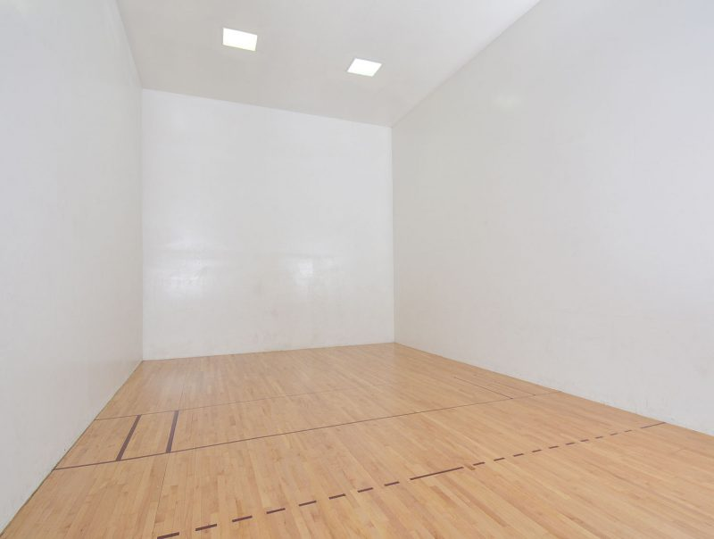 Indoor air conditioned racquetball court