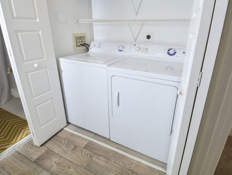 Washer & Dryer in each home