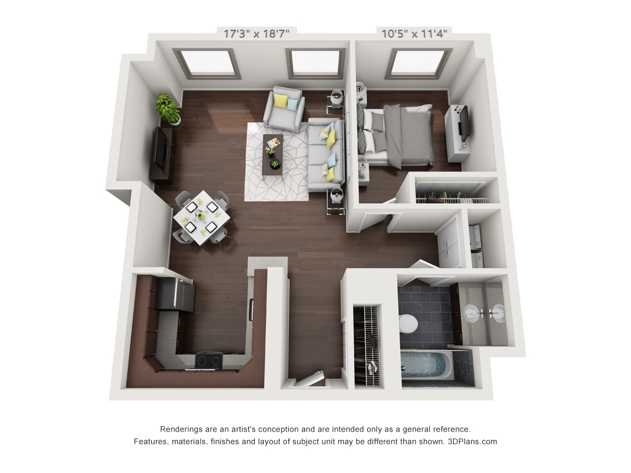 tower place apartments in philadelphia - 1 bedroom