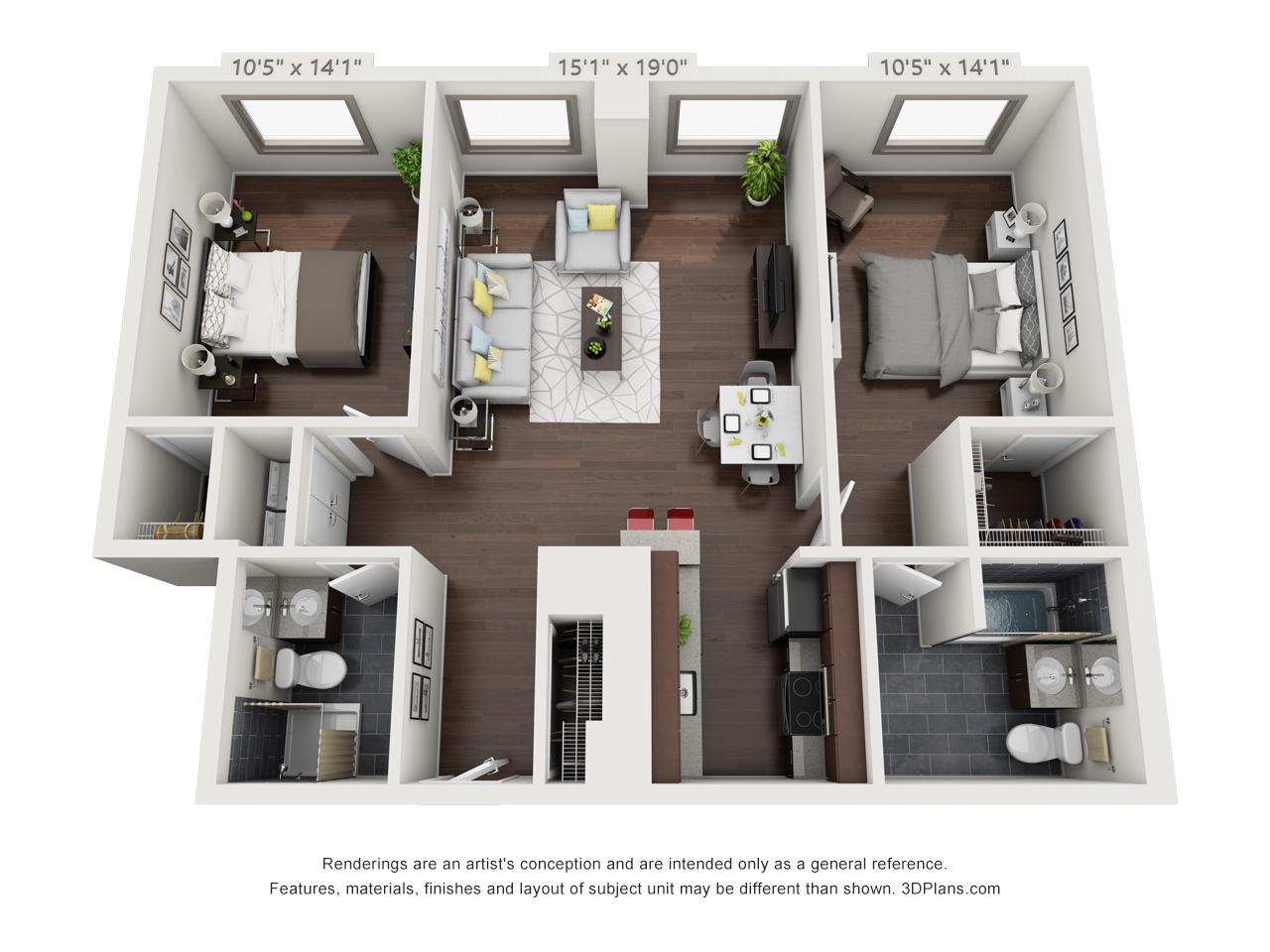 spring garden apartments in philadelphia - 2 bedroom