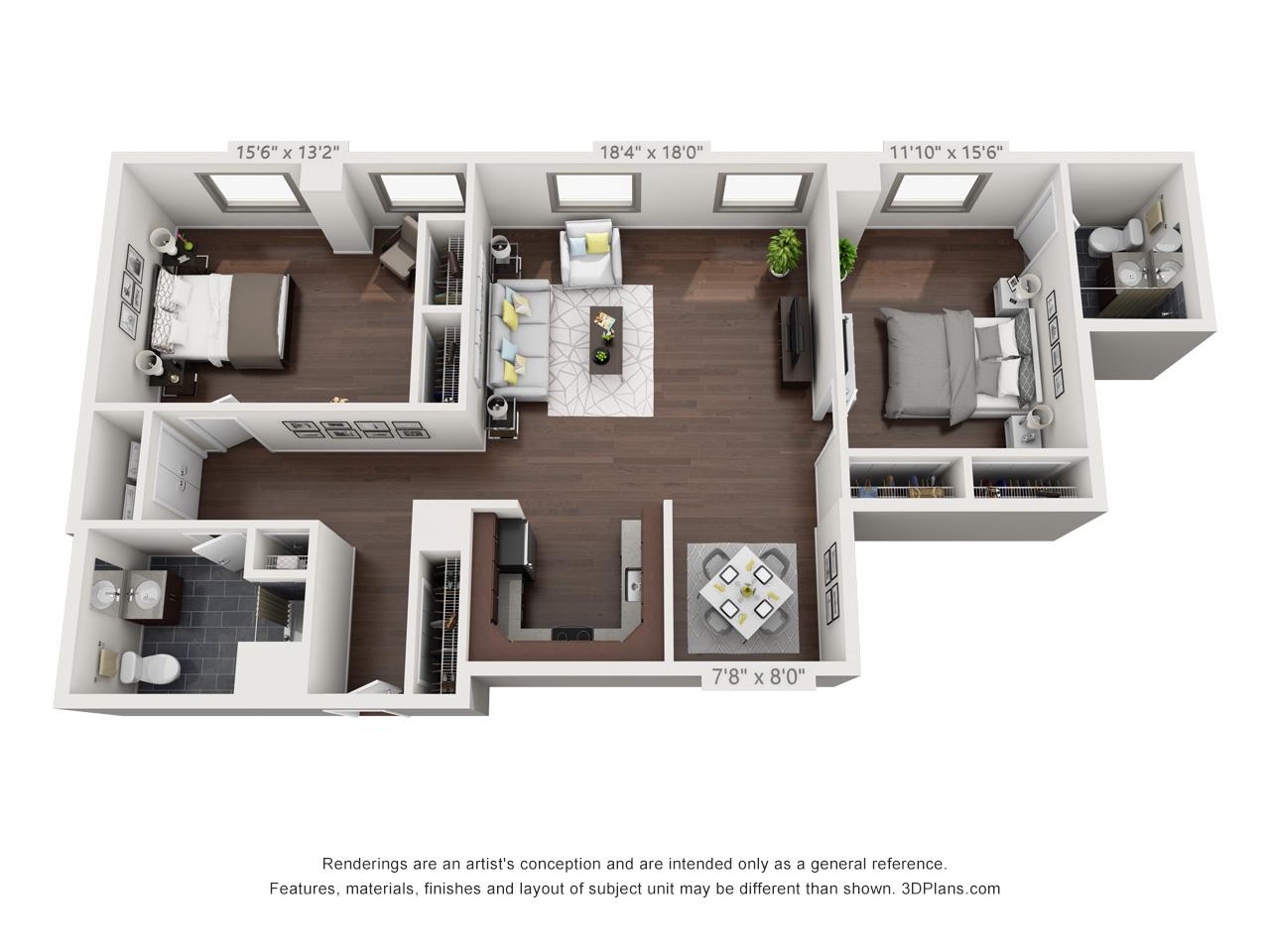 best fairmount apartments - 2 bedroom