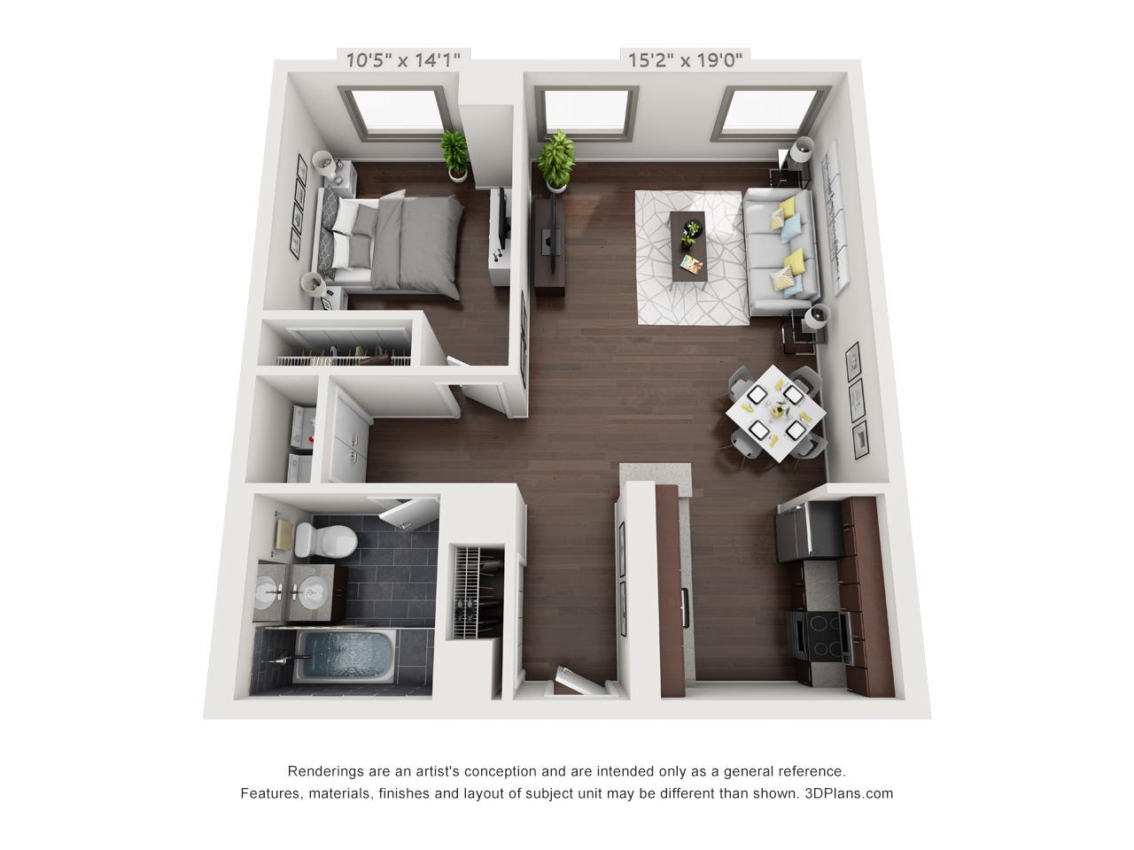 fairmount apartments - 1 bedroom