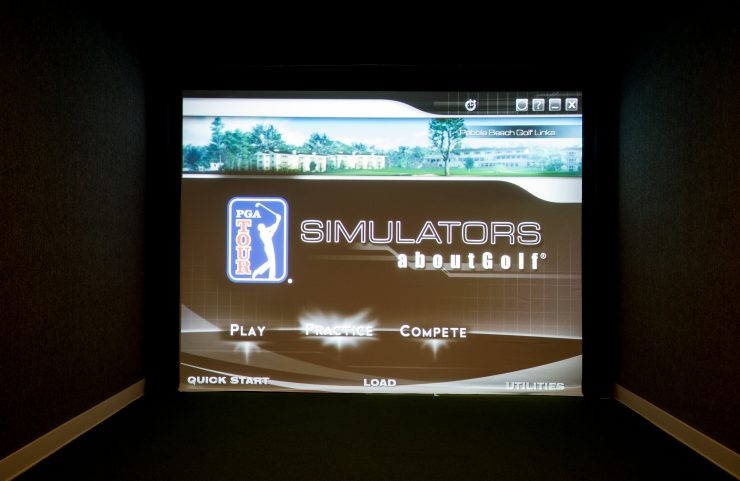 indoor golf simulation