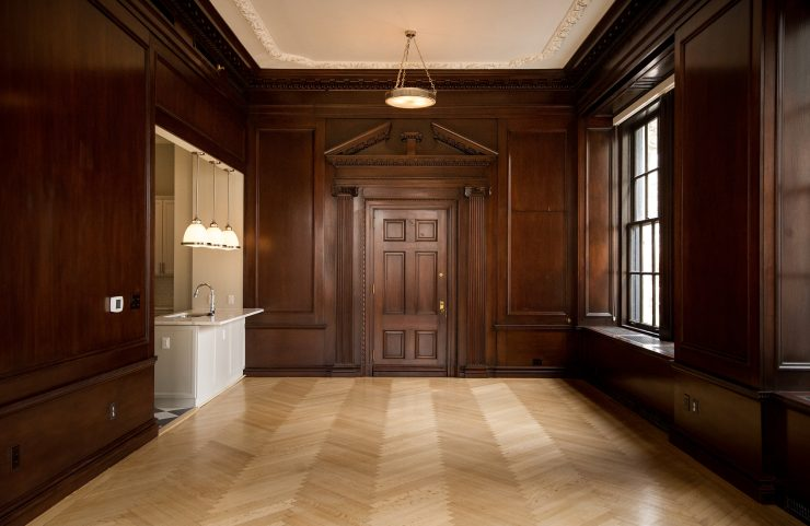 open layout in historical home