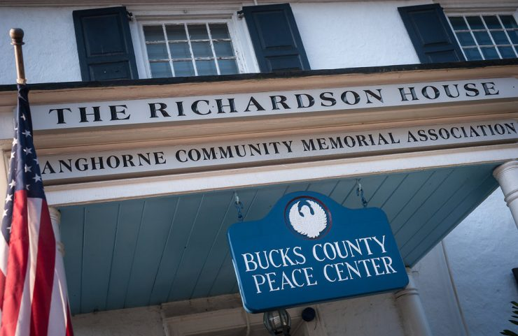 the richardson house entrance sign