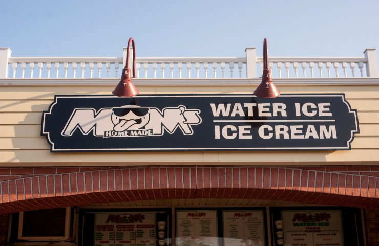 moms water ice sign
