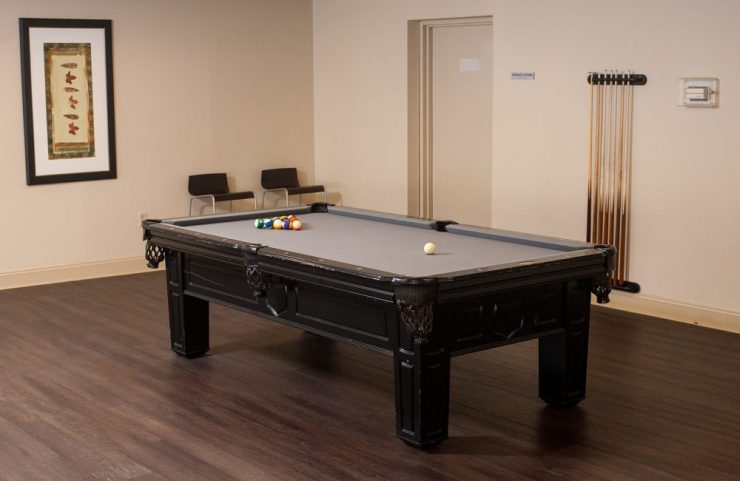 shoot pool in the resident lounge