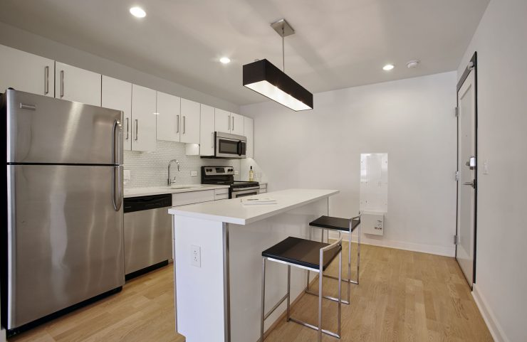 modern center city apartment