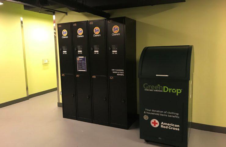 PressBox and Green Drop Donation Box