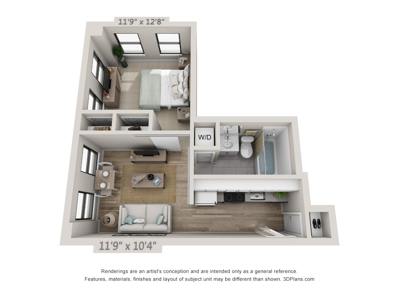 1 Bedroom Apartments In Center City