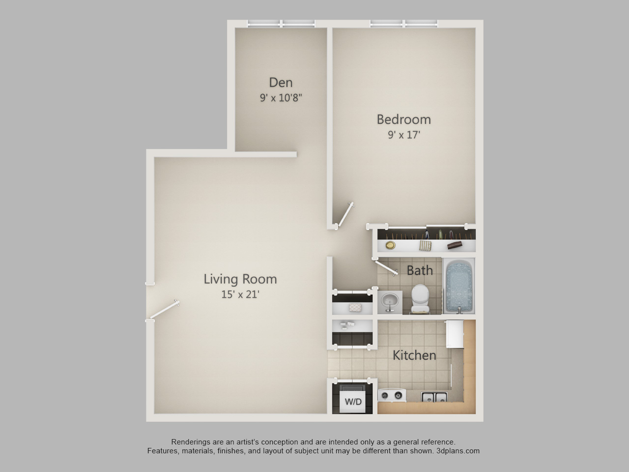 1 Bedroom apartments in Allentown