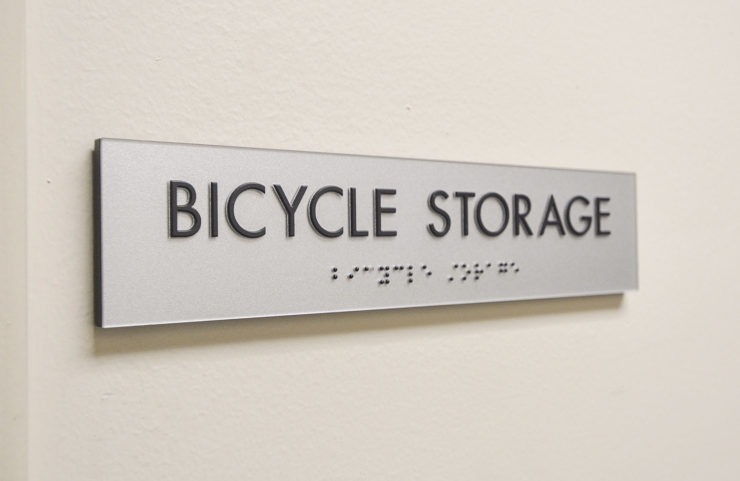 bicycle storage signage