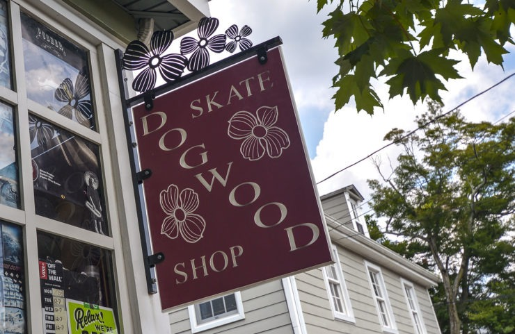 nearby dogwood skate shop signage