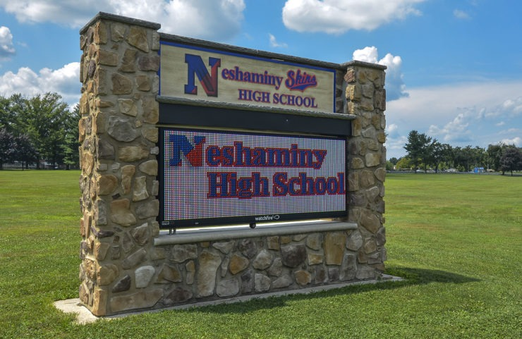 Neshaminy High School sign