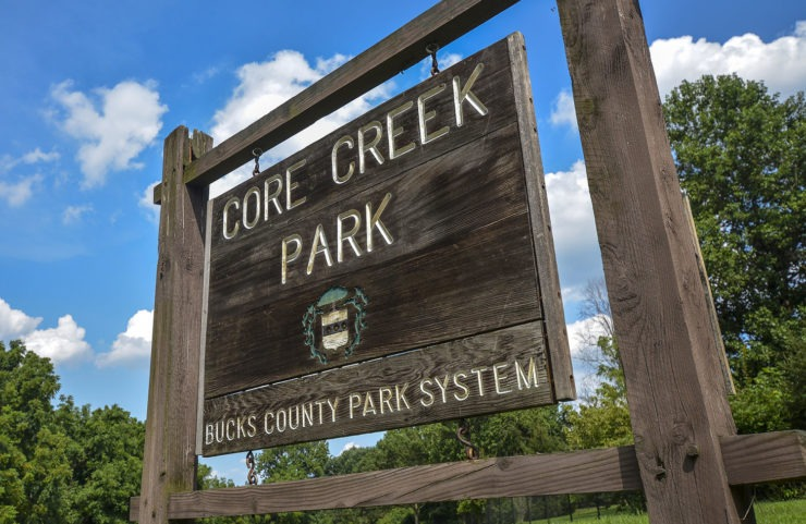 nearby core creek park signage