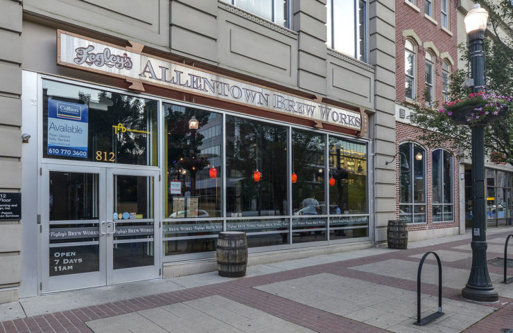 Entrance to nearby Fogley's Allentown Brew Works