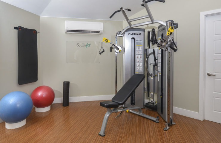 weight machine in fitness center