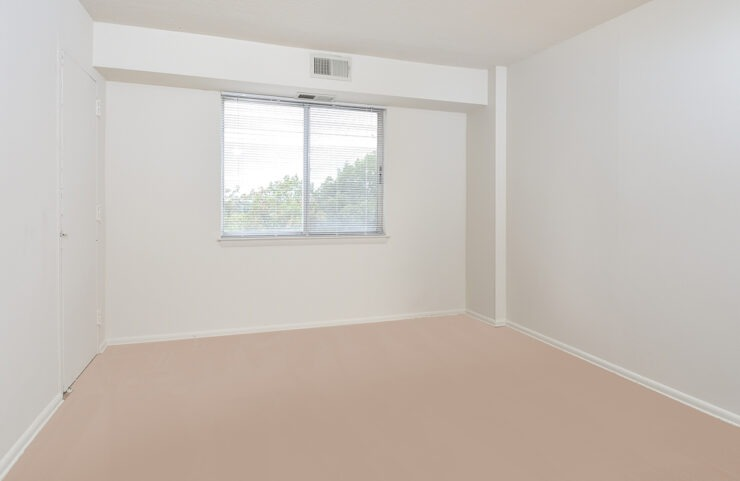 carpeted bedroom