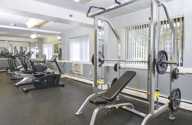 workout in fitness center