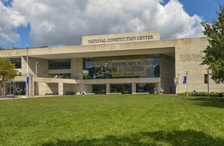 exterior of nearby national constitution center